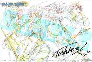 川村敏江さん複製サイン入りャケットイラスト線画使用イラストカード